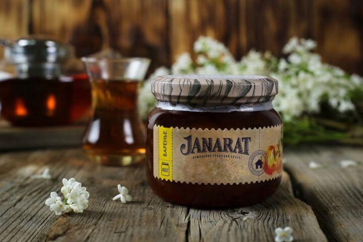 """Варенье из белой черешни """"Janarat"""" 450гр."""