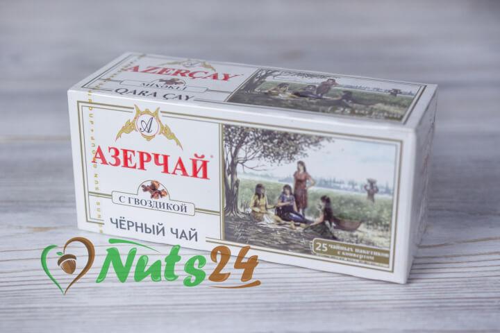 Чай Азерчай чёрный с гвоздикой 25 пак.(с конвертом)