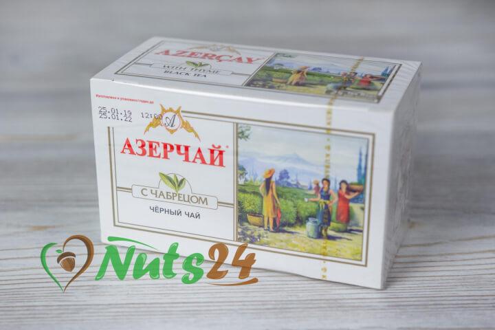 Чай Азерчай чёрный байх. с чабрецом 25 пак.(с конвертом)