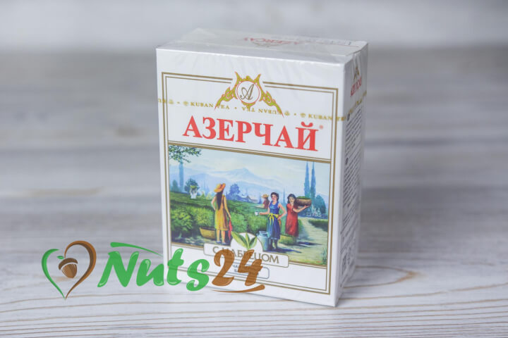 Чай Азерчай чёрный байх. с чабрецом 100 гр.(картон)