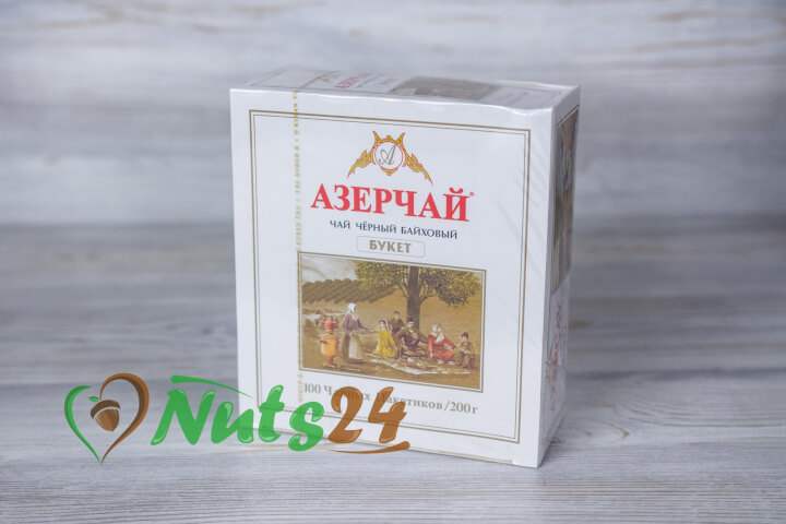 Чай Азерчай чёрный байх. с чабрецом 100 пак.(без конверта)