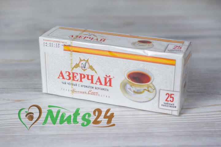 Чай Азерчай чёрный байх. бергамот 25 пак.(с конвертом)