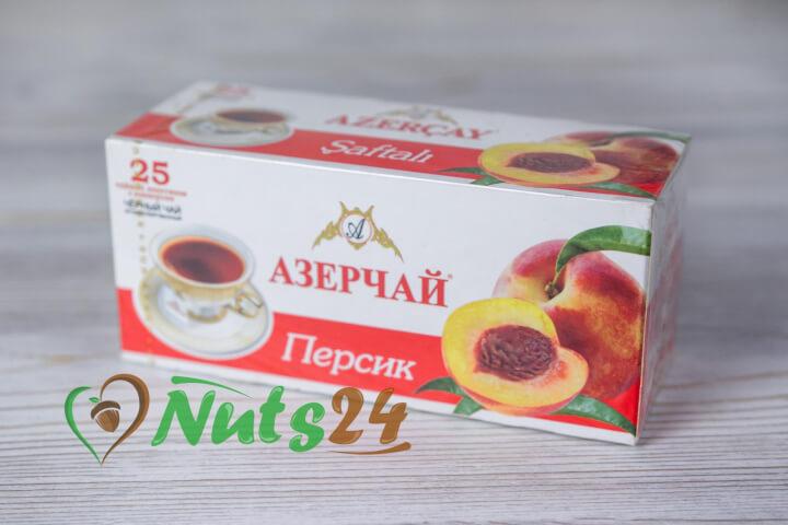 Чай Азерчай чёрный аром. персик 25 пак.