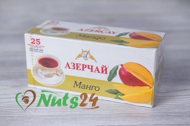 Чай Азерчай чёрный аром. манго 25 пак.(с конвертом)