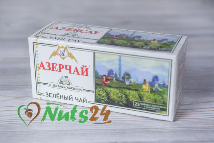 Чай Азерчай зелёный аромат. с жасмином  25 пак.