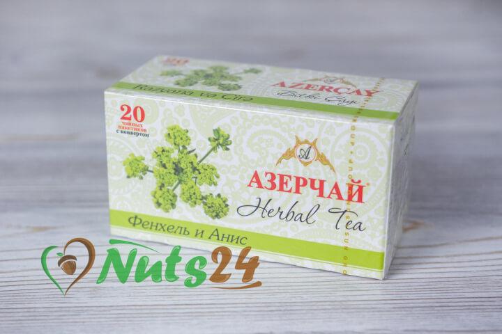 Чай Азерчай травяной фенхель-анис 20 пак.