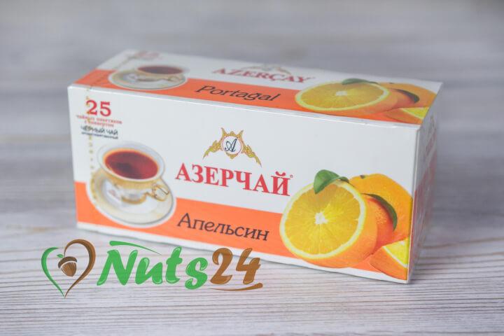 Чай Азерчай чёрный аром. апельсин 25 пак.