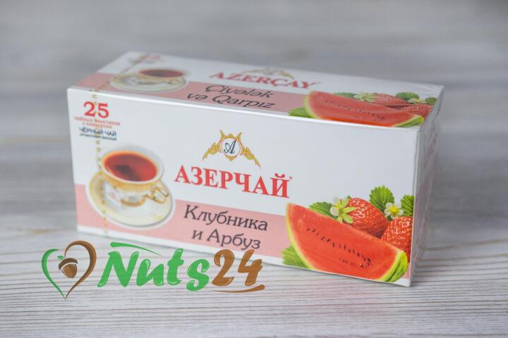 Чай Азерчай чёрный аром. клубника-арбуз 25 пак.