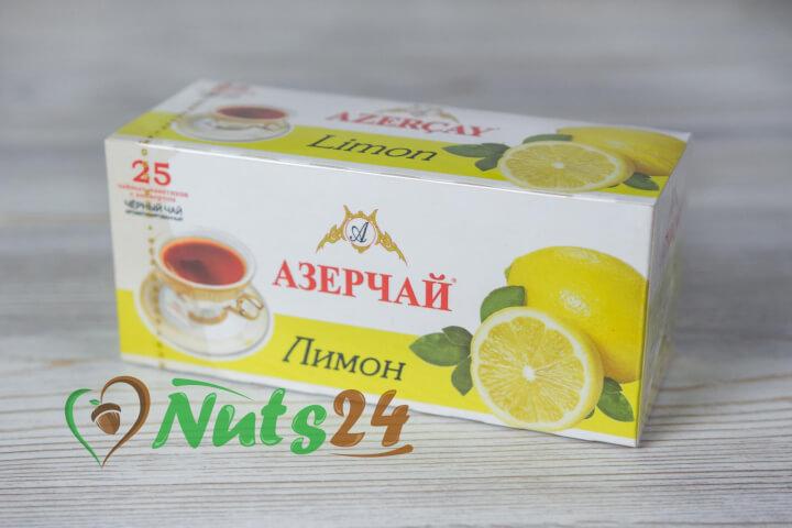 Чай Азерчай чёрный аром. лимон 25 пак.(с конвертом)