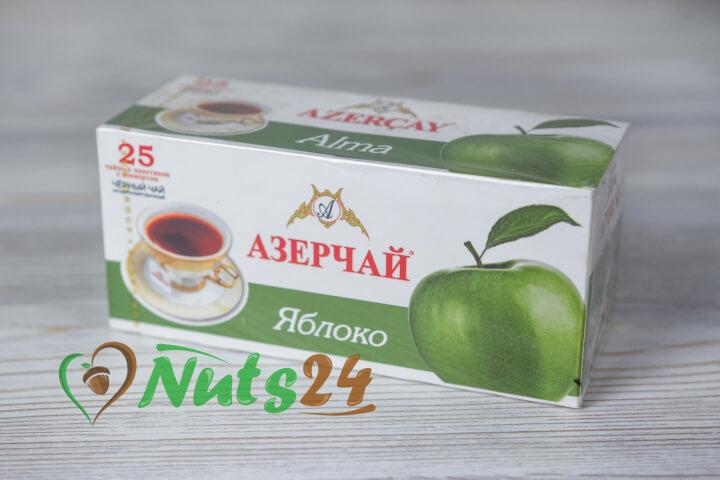 Чай Азерчай чёрный аром. яблоко 25 пак.