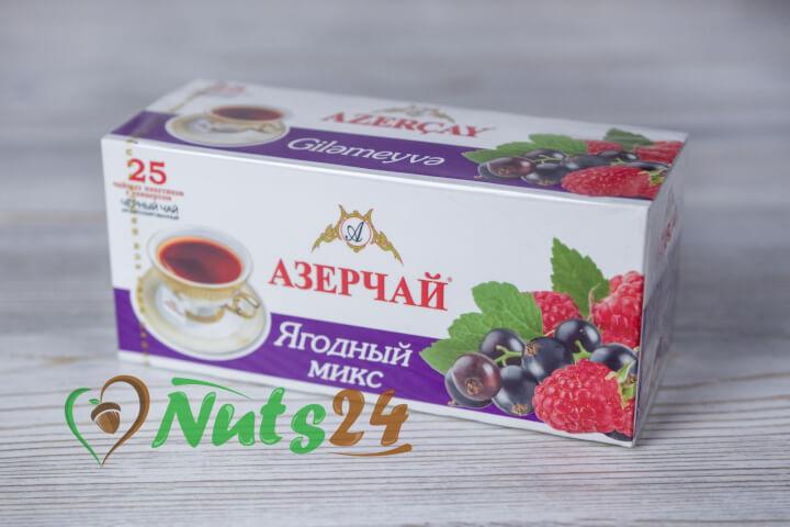 Чай Азерчай чёрный аром. ягоды 25 пак.(с конвертом)