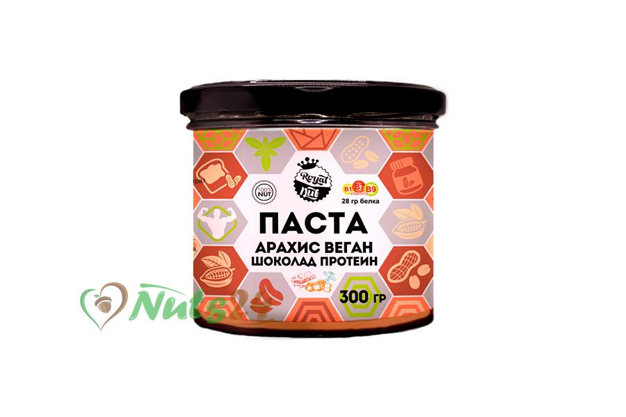 Паста Арахис+Веган протеин+шоколад 300 гр