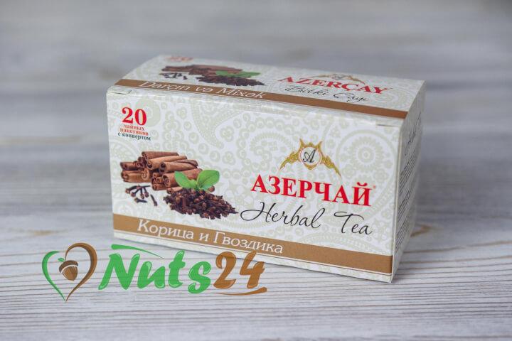 Чай Азерчай травяной корица гвоздика 20 пак.