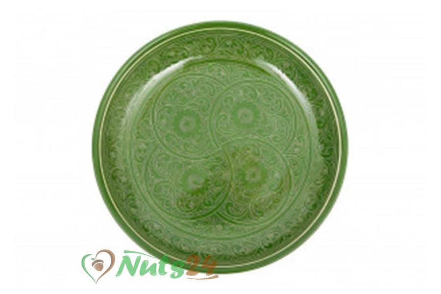 Блюдо 42 см зелёное